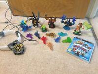 PS3 skylanders game and figures