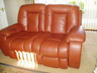 Two seater electric recliner sofa and matching recliner chair
