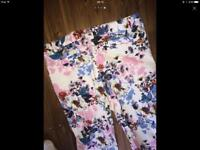 Floral river island pants girls 12