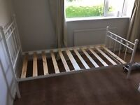 Childs White Metal Bed Frame for sale