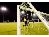 Kick about on Astroturf, looking for players