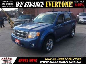2009 Ford Escape XLT 3.0L V6 AWD 117KM LEATHER SUNROOF