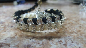 2 bracelets with crystals for $10.