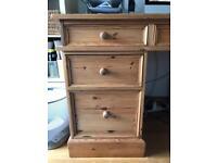 Large solid pine desk