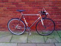 Cool BSA custom vintage single speed bike. Flip Flop.