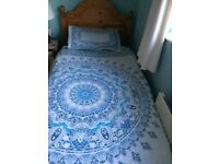 Pine single bed and mattress SOLD