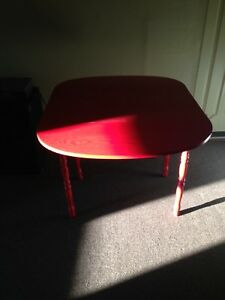 Red Drop Leaf Table