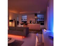 PHILIPS HUE COLOUR AMBIENCE STARTER 1x bridge 3x colour bulbs (B22) BRAND NEW!!