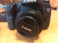 Canon 7d MK1 DSLR + canon 50mm F1.8 Prime Lens + 3 Batteries