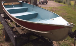 Springbok 12' aluminum Boat -Awesome shape!
