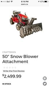 Attached craftsman snowblower