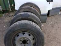 Iveco Daily tyres and rims, size 225/70/15C, excellent condition