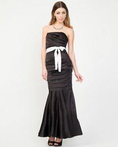 Black satin mermaid style dress