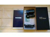 Doogee y6 max smartphone phablet silver back