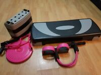 Joblot of exercise equipment