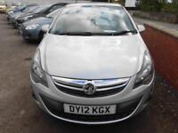 2012 VAUXHALL CORSA SXI AC 1.2 MANUAL PETROL 5 DOOR HATCH IN SILVER