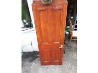 6 solid wood 4 panel doors