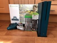 Blue Xbox One S 500GB With 10 games and a custom controller, GTA, COD,BATTLEFIELD