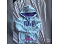 Girls GAP hoodie 5 yrs