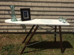 Vintage Ironing Board becomes a Fabulous Table