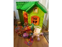 Feber Play House and extra smoby kitchen plus other toys Excellent Condition