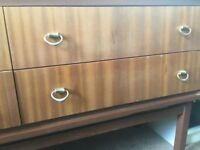 Vintage style wooden chest of drawers