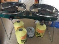 Dual burner stove