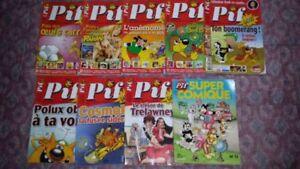 Lot de 9 magazines (BD ) Pif.
