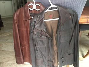 His and Hers Brown Leather Jackets - Danier