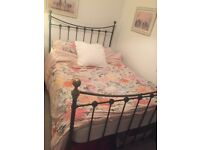 Brass double bed frame - beautiful antique style