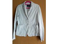 ARMANI white colot womens coat - size-US8/UK10