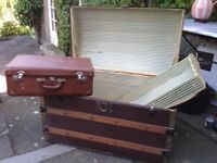 Old Trunk & Suitcase- Perfect Edinburgh Fringe Theatre Props