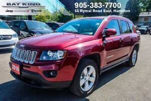 2016 Jeep Compass NORTH 4X4, BLUETOOTH, A/C, PWR WINDOWS, AUTO