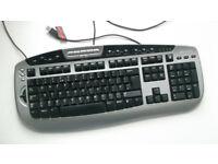 Digital Media Pro Microsoft Keyboard + Software (KC-0405) Black, USB, Desktop PC, Apple, Windows