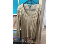 Genuine Ralph Lauren knitted jumper in size L in good clean condition can post