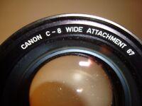 Super 8 Canon C-8 Wide 68 Attachment with case