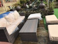 Outdoor garden rattan set 3 / 6 seater - delivery available
