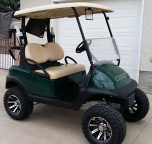 Lifted Electric Club Car Precedent Golf Cart