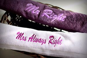 Personalized bath towels or robes