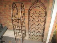 2 Iron Bottle Racks - Bronze Colour - Each holds 21 Bottles