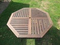 Hardwood Garden Table - Octagonal Folding