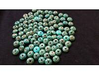 105 x 13mm TEAL & TURQUOISE BEADS - BRAND NEW