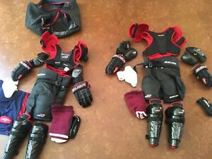 Bauer ice hockey protective gear