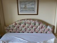 FREE - UPHOLSTERED DOUBLE HEADBOARD - 4ft 6ins - In very good clean condition. FREE to collect
