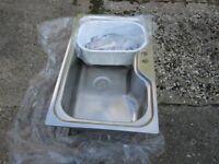 Stainless steel kitchen sink - new