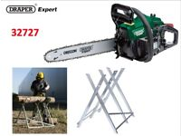 DRAPER EXPERT PETROL CHAINSAW & TRESTLE - 37CC 400MM WITH OREGON® CHAIN AND BAR