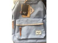 Brand new baby blue Herschel back pack