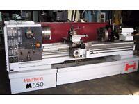 HARRISON M550 GAP BED CENTRE LATHE 80 INCH CENTRES DRO