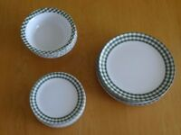 24 pieces melamine plates. Ideal for caravan or camping