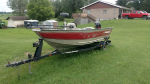 SOLD!!!!! 16' Fishing boat motor and trailer